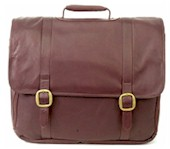 Leather Briefcase Laptop Merger