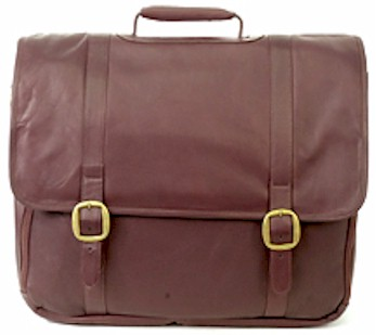 Wall Street Loptop Leather Briefcase