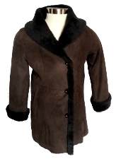 Spanish Merino Shearling Coat in brown