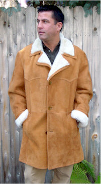 Mens shearling jacket