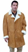 Men's Closed Seam Marlboro Shearling Coat
