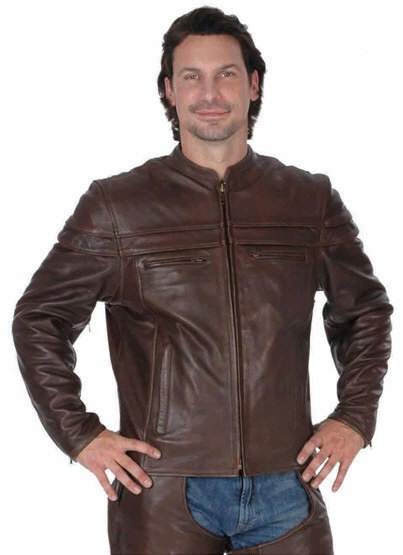 Unik Leathers Premium Brown Leather Jacket