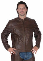 Village Shop - Unik Premium Brown Leather Jacket
