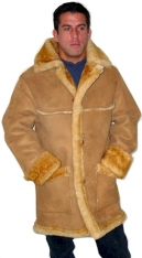 3/4 Men's Open Seam Sheepskin Coat