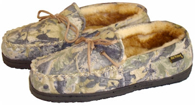 Men's Camouflage Moccasin Slippers by Old Friend Footwear