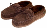 Brown Moccasin Sheepskin Slippers