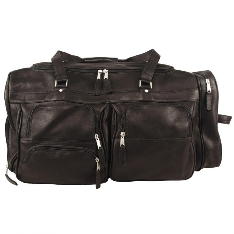 Deluxe Leather Travel Duffel Bag
