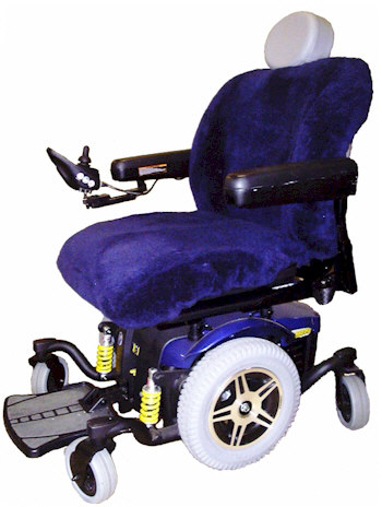 Tailor-made Sheepskin Wheelchair Seat Cover
