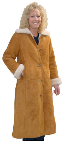 Spanish Merino Full Length Shearling Coat