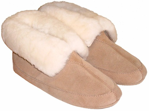 Soft Sole Sheepskin Slippers