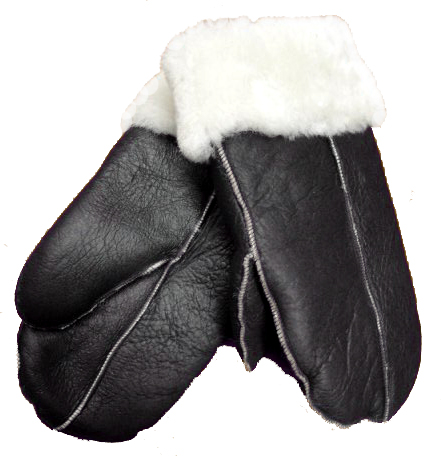 Dark Brown Nappa Sheepskin Mittens