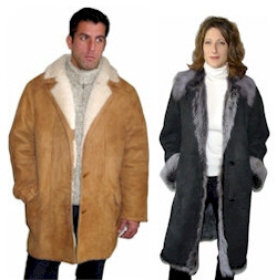 Shearling Coats for Men and Women in a Variety of Styles and Colors.