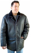 Men's Black Nappa Shearling Coat