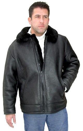 Black B3 Sheepskin Bomber Jackets