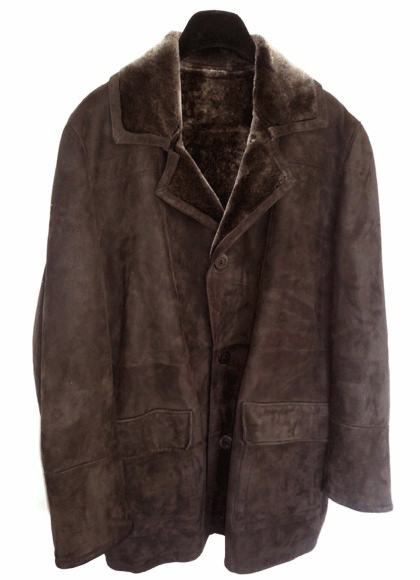 Men's Calssic Shearling Coat in Brown Blist Spanish Merino