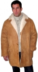 Men's Classic 3/4 Shearling Coat