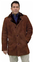 Men's Notched Collar Shearling Coat