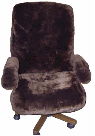 Tailor Made Sheepskin Office Chair Cover