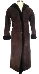 Full Length Hooded Icelandic Shearling Coat