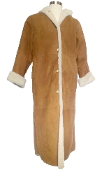 Full Length Spanish Merino Shearling in Tan