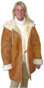 Hooded Sheepskin Coat