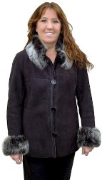 Jenna Shearling Coat in midnight