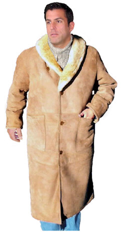 Mens Full Length Sheepskin Coat - Coat Nj