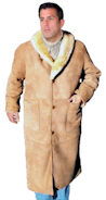Shawl Collar Sheepskin Coat