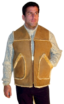 Kidney Flap Sheepskin Vest
