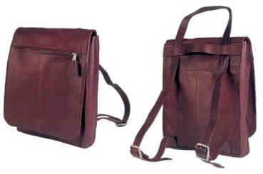 Convertable Leather Laptop Shoulder Bag / Backpack