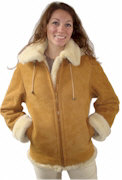 Ladies Sheepskin Bomber Jacket