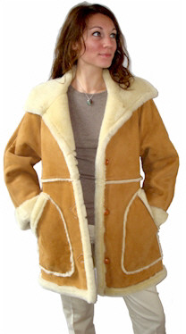 Ladies Country Marlboro Sheepskin Coats from VillageShop.com