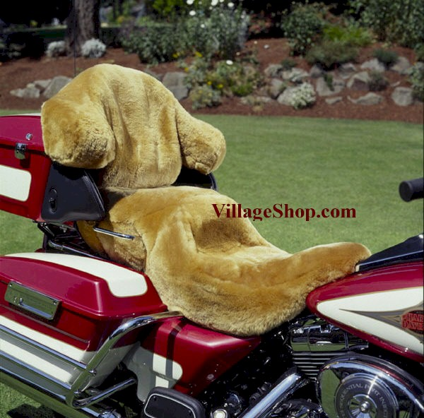 Sheepskin Motorcycle Seat Cover; Tailor Made