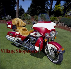 Sheepskin Motorcycle Seat Covers, Tailor-made