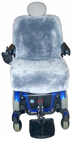 Ready-Made All-Sheepskin Power Chair Cover