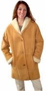 Shawl Collar Shearling Coat