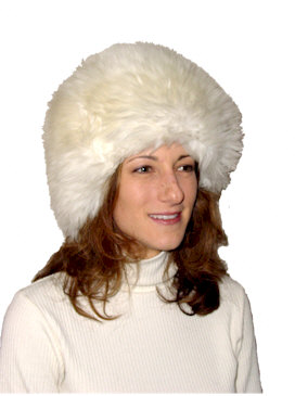 Ladies Sheepskin Snoball Hat