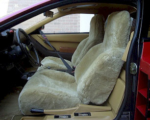 Sheepskin Seat Cover; Tailor Made