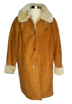 Tan Spanish Merino Shearling Coat