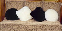 Village Shop - sheepskin pillows