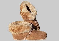 Village Shop - sheepskin slippers