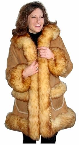Fur Trim Sheepskin Coats from VillageShop.com