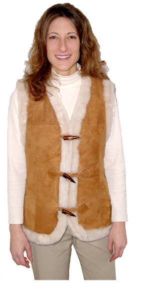 Ladies Shearling Vest