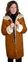 Spanish Merino Ladies Shearling Coat