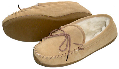 Sheepskin Moccasin Slippers #9780