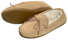 Moccasin Style Sheepskin Slippers