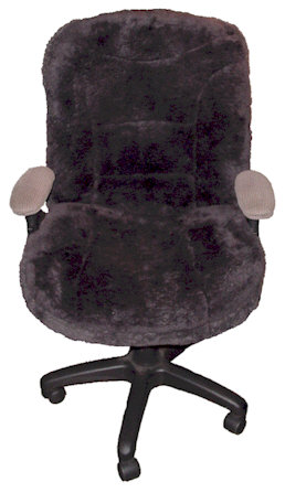 Large Office Chair Sheepskin Seat Cover