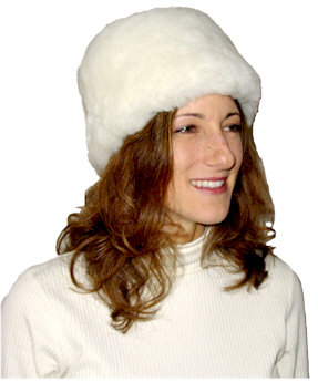 Sheepskin Pillbox Hat