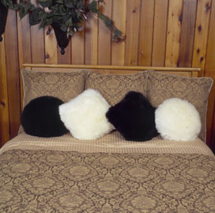 Sheepskin Throw Pillows