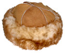 Long Hair Sheepskin Round Hat - More Details